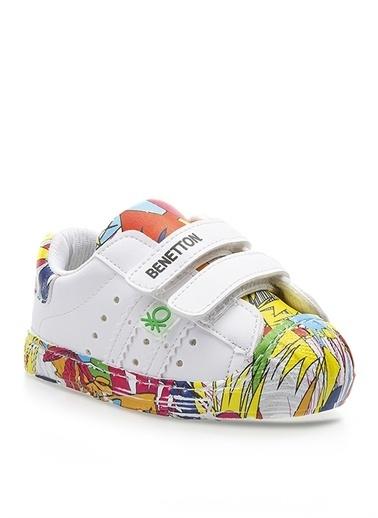 Benetton Benetton BN-1017 Beyaz Kadın Yürüyüş Ayakkabısı Beyaz